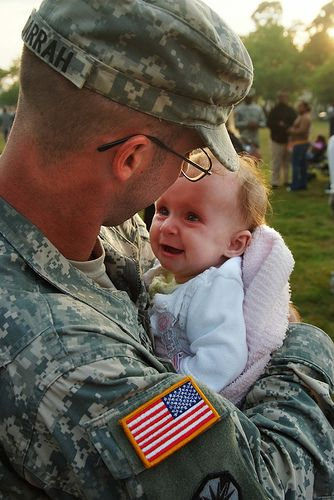 It appears to me that this is the first time they met.  Thank you so much Soldier, for your sacrifice and service to our country!