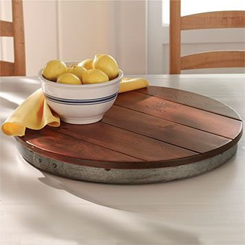 Wine Barrel Lazy Susan  They'll love this wine barrel Lazy Susan in their new dining room or kitchen island.