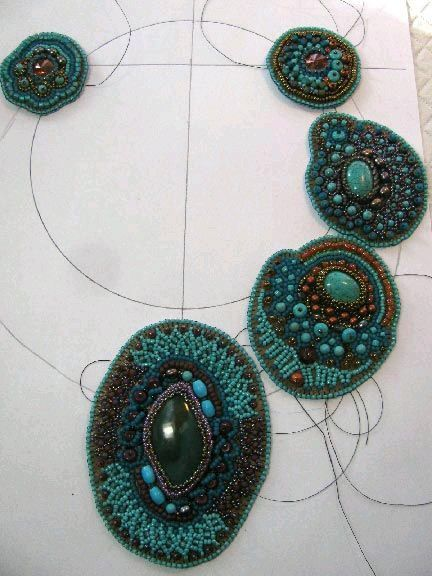 Embroidery beads tutorial makaroka