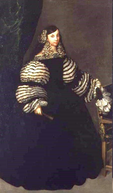 ca. 1683 Dama de la Casa de Medinaceli (la Duquesa de Feria?) by Juan Carreño de Miranda (Hospital Tavera, Toledo Spain) | Grand Ladies | gogm: