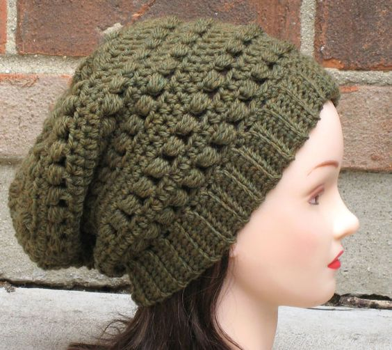 Crochet patterns, Slouchy beanie hats and Crochet hat patterns on ...