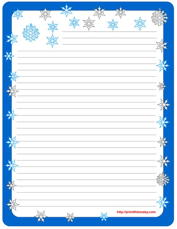 Lined Stationery Pads Free Printable Winter Stationery   Lined Stationary  Template  Lined Stationary Template