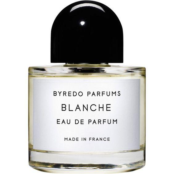 Byredo Blanche Eau De Parfum 100ml (1 875 SEK) ❤ liked on Polyvore featuring beauty products, fragrance, makeup, perfume, beauty, colorless, filler, eau de perfume, perfume fragrances и byredo