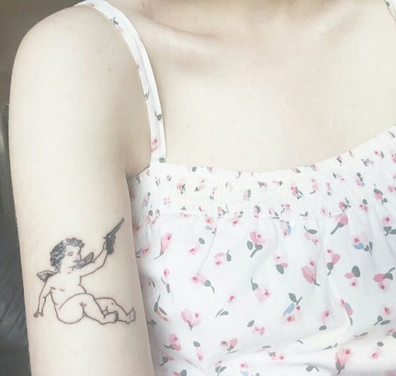 Cherub tattoo - Artist unknown