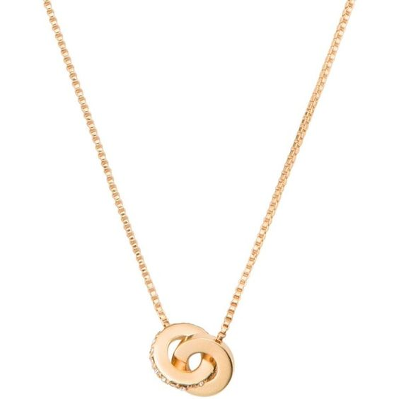 Kate Spade Infinity & Beyond Infinity Mini Pendant ($58) ❤ liked on Polyvore featuring jewelry, pendants, mini pendants, stone jewelry, kate spade jewelry, kate spade and charm pendant