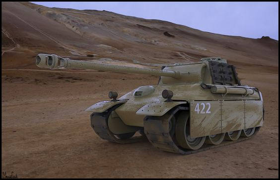 Panther tank study, Hagai Itzhaky on ArtStation at https://www.artstation.com/artwork/panther-tank-study
