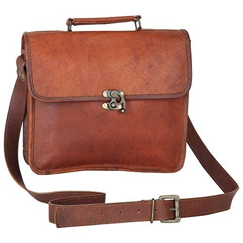 Dark Brown CPLEATHER Vintage Design Leather Travel Duffle Bag for Men and Women