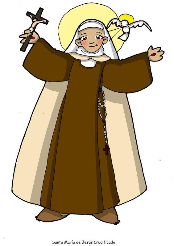 Dibujos Para Catequesis Santa María De Jesús Crucificado Figuras Religiosas De Jesus Maria De Jesus