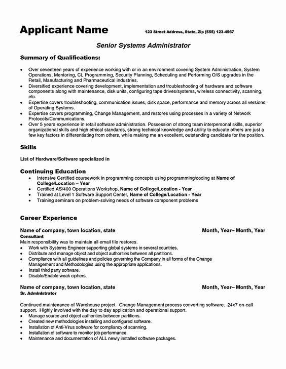Beautiful System Administrator Resume System Administrator Resume System Administrator How To Make Resume Resume