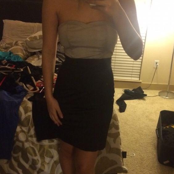 Black and grey dress Black and grey h&m dress H&M Dresses