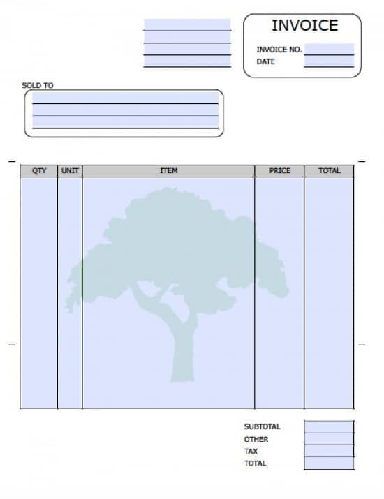 Lawn Care Service Invoice Template Adobe Pdf Microsoft Word Invoice Design Template Templates Free Design Invoice Template