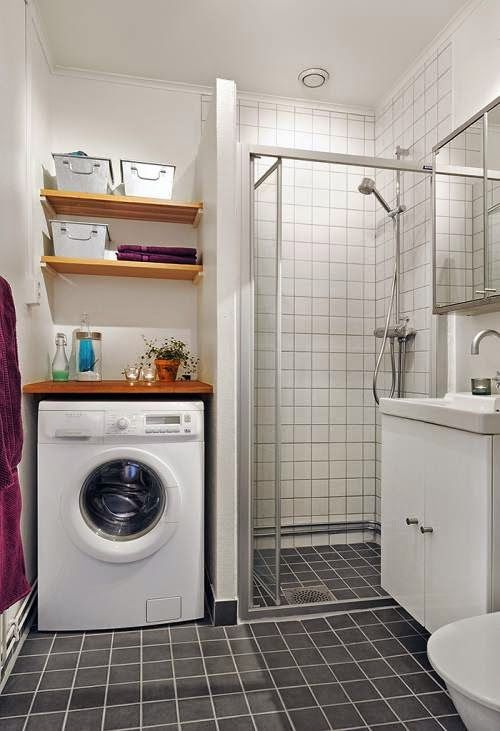La Lavadora En El Bano The Washer In The Bathroom Con Imagenes Decorar Banos Pequenos Como Decorar Banos Pequenos Bano Con Lavadora