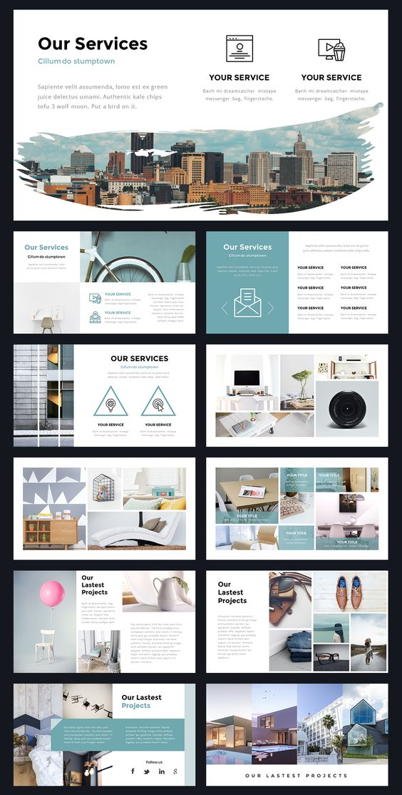 portal modern powerpoint template by thrivisualy on. Black Bedroom Furniture Sets. Home Design Ideas
