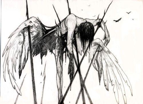 Uber 1000 Ideen Fur Fallen Angel Art Auf Pinterest Art Angel