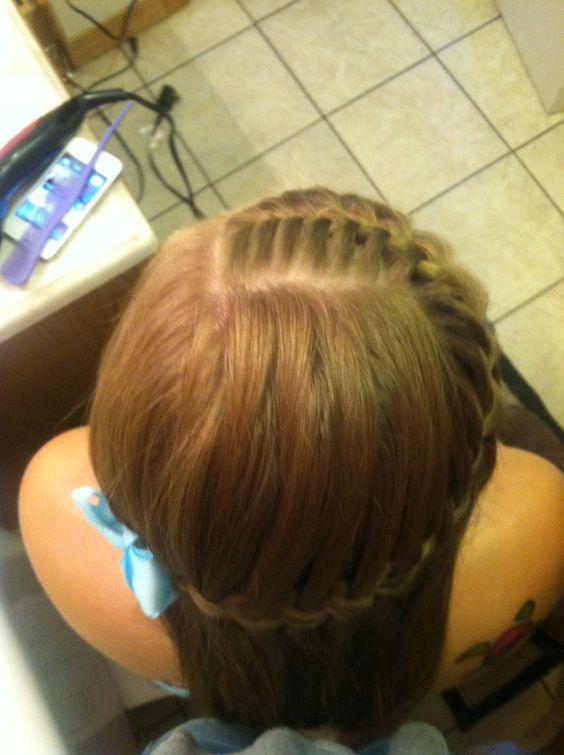 French braid into water fall braid! :)