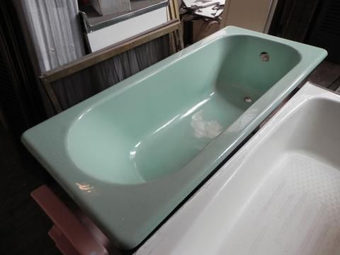 Extra Large 1920 S Vintage Cast Iron Drop In Ming Green Tub By Standard Vintage Tub Tub Extra Large
