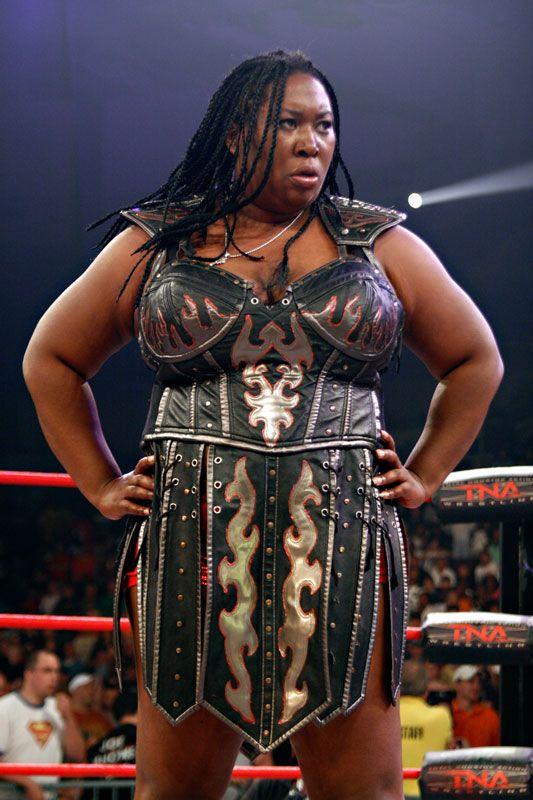 Black female wrestling