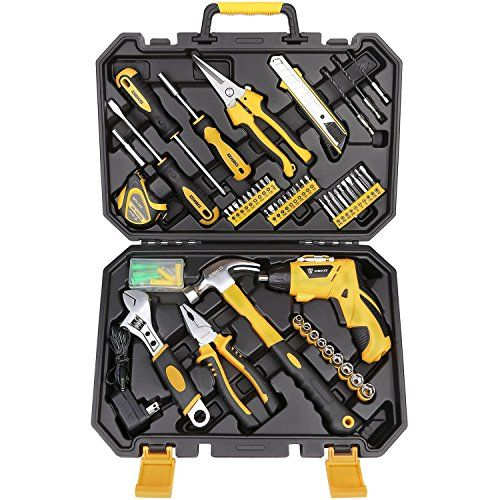 Deko 108 Piece Socket Wrench Auto Repair Tool Combination Package Mixed Tool Set Hand Tool Kit With Plastic Toolbox Storage Case Power Tool Kits Electric Power Tools Plastic Repair
