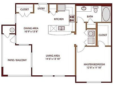AMLI on Day Creek, Vail Floor Plan