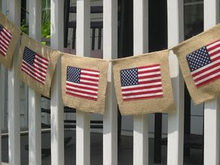"""""""You're A Grand Old Flag""""...Burlap 4th of July Banner"""