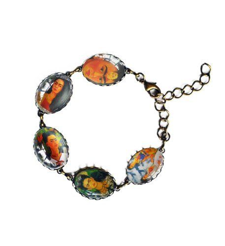 Handmade Oval Glass Cabochon Frida Kahlo Charm Bracelet by Timelessfancy, http://www.amazon.co.uk/dp/B00CK9F1QC/ref=cm_sw_r_pi_dp_Xulosb1S3EBHC