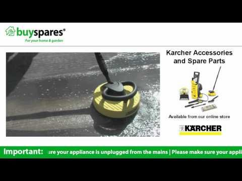 How to use the T Racer attachment on a Karcher pressure washer, BuySpares 'how to videos'.