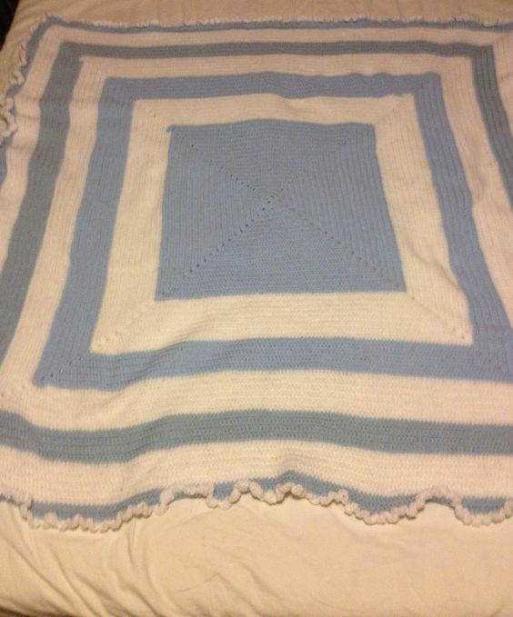 Blue and white blankie