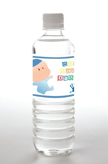 Bris, Brit Milah Water Bottle Labels by Tailor Made Water - mazelmoments.com