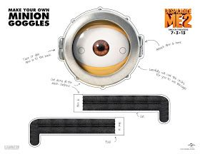 Printable Minion Goggles!