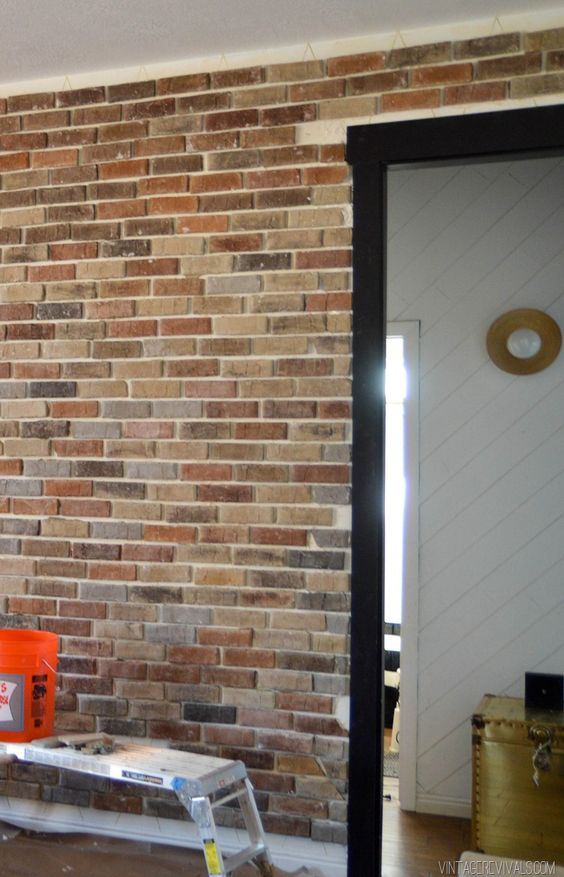 Installing Brick Veneer Inside Your Home Home Vintage