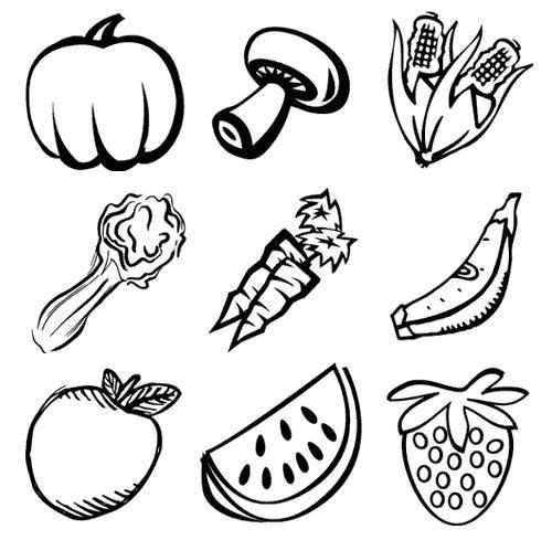 Resultado De Imagem Para Verduras E Legumes Para Colorir