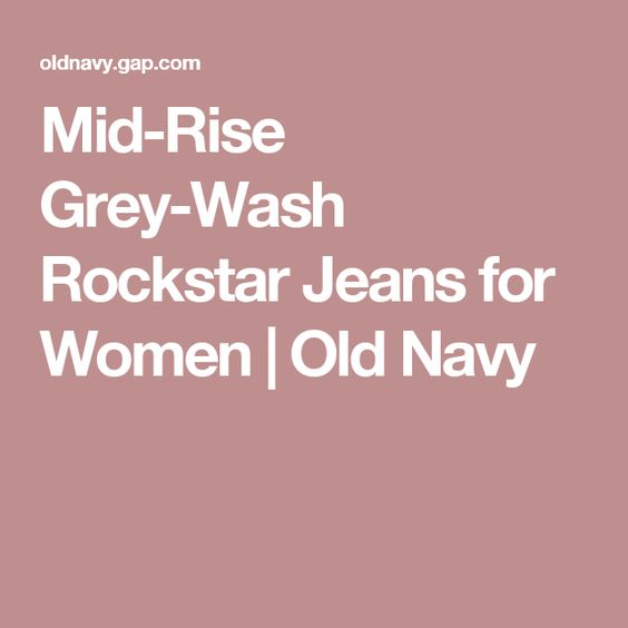 Mid-Rise Grey-Wash Rockstar Jeans for Women | Old Navy