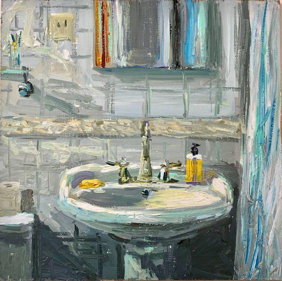 Will Harmuth, the bathroom sink 12x12in acrylic