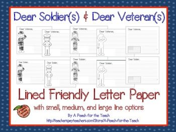 Ideas for Letters to Soldiers