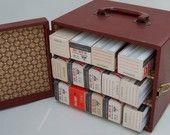 Vintage-Awesome slide storage box