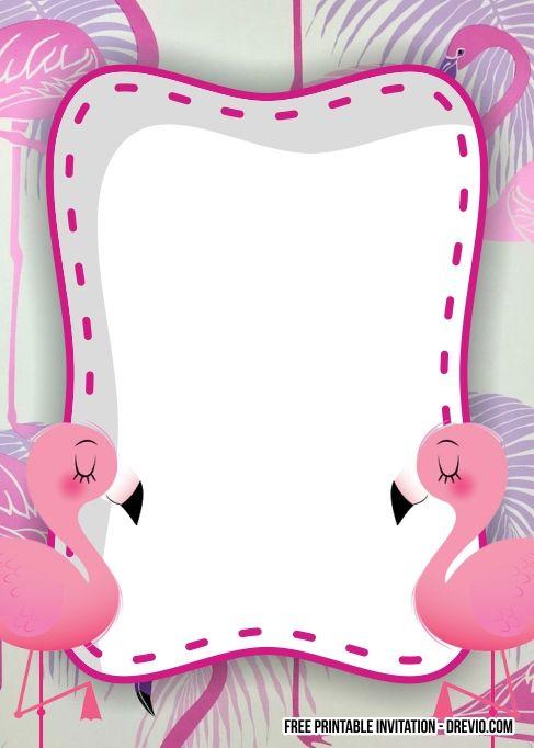 Free Flamingo Birthday Invitation Templates Flamingo Birthday Invitations Flamingo Birthday Birthday Party Invitations Free