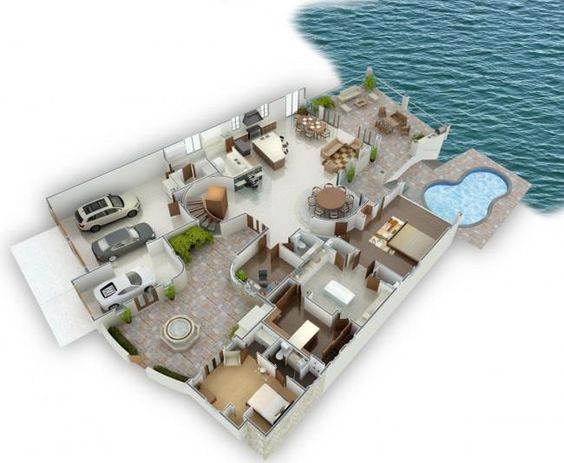 Pin On 3d House Plans Floor Plans