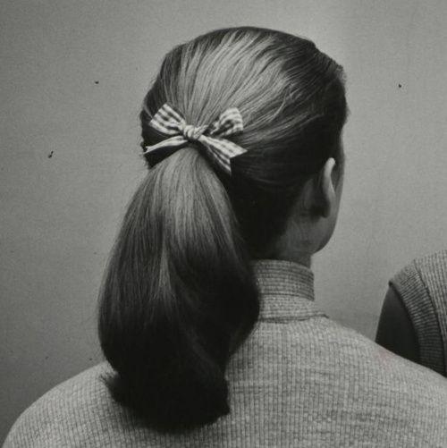 We had ponytails!