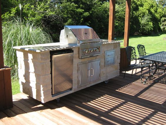 8 Foot Outdoor Kitchen - Granite u0026 Real Stone | Take it Outside- Natural Stone Entertaining ...