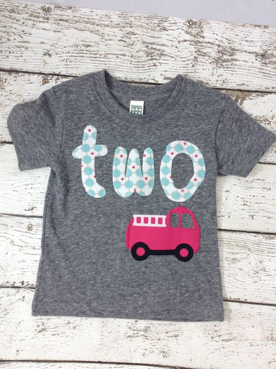 New lil threadz design posted! Ready to Ship second birthday girl's birthday shirt firetruck firefighter princess party girl's birthday outfit by lilthreadzclothing