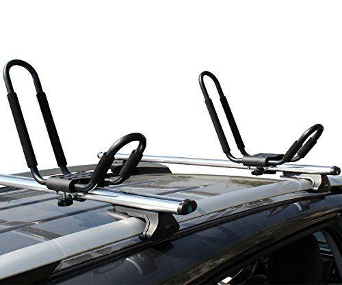 2Pairs Kayak Carrier Boat Ski Surf Snowboard Roof Mount Car Cross J-Bar Rack New