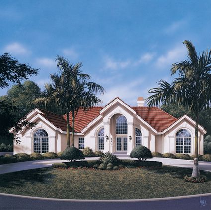 This three bedroom southern ranch home features a large for Southern style ranch home plans