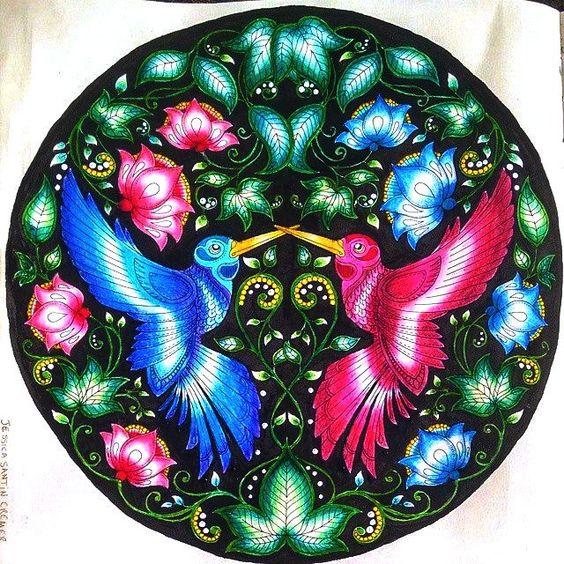 Jardim Secreto Beija flor - pintado por mim @jessicasantin