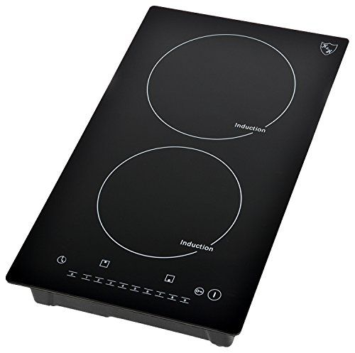Amazon Com K H Domino 2 Burner Induction Ceramic Cooktop 220v Indv 3102 Appliances Ceramic Cooktop Cooktop Induction