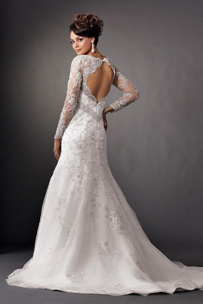 Pinterest the world s catalog of ideas for Wedding dress with swag sleeves