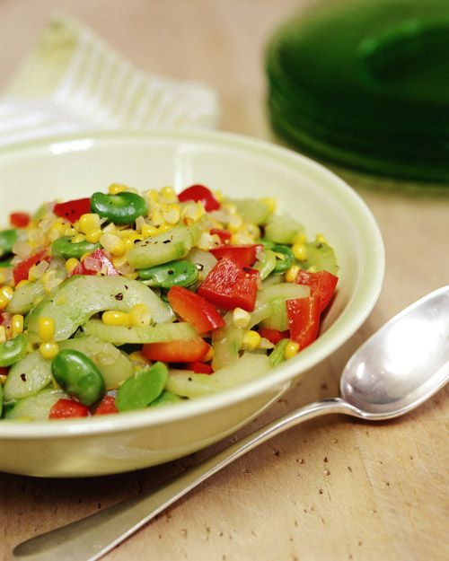 Corn, Fava Bean, and Cucumber Succotash - Whole Living Eat Well