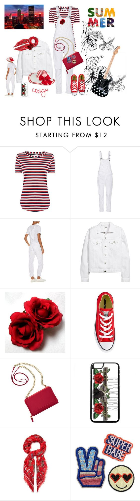 """""""Red & White"""" by cody-k ❤ liked on Polyvore featuring rag & bone, Converse, TravelSmith and Alexander McQueen"""