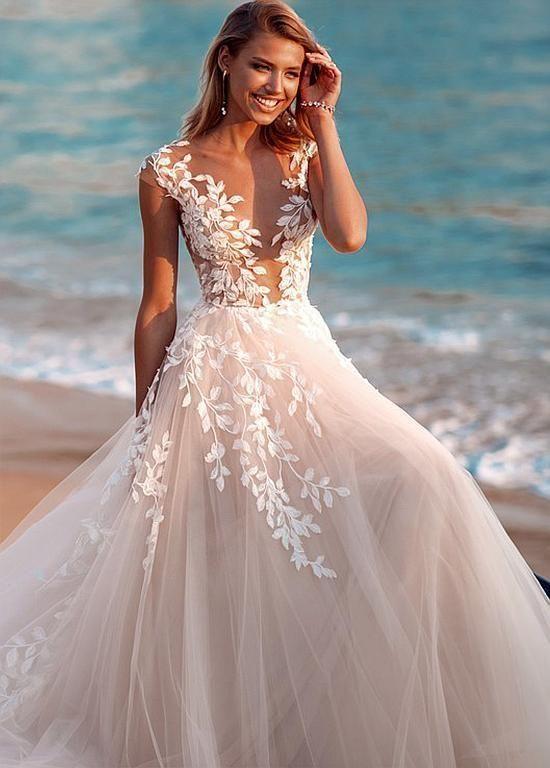 Wedding Dress Pastel Wedding Dress Wedding Guest Dresses For Spring 20 In 2020 Pastel Wedding Dresses Wedding Dress Necklines Wedding Dress Fabrics
