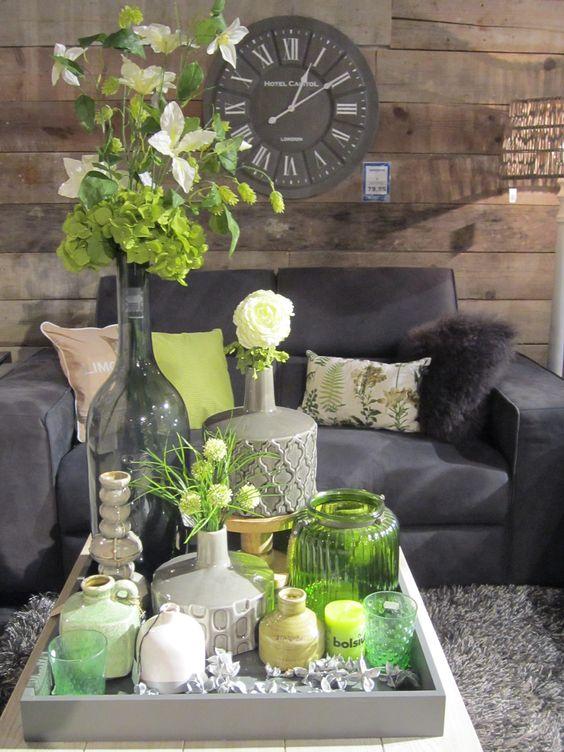 Klok bloemen vaas inspiratie decoratie living home for Bloemen decoratie