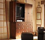 pottery barn tv armoire